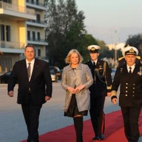 Η υπουργός Άμυνας της Ολλανδίας στοΥΠΕΘΑ
