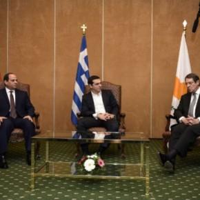 Τη «Διακήρυξη της Αθήνας» υπέγραψαν Τσίπρας – Σίσι –Αναστασιάδης