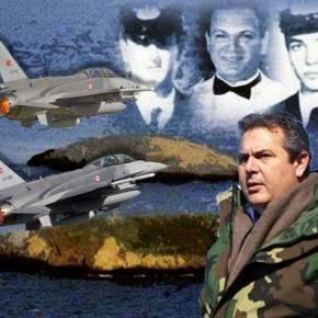 Τουρκικά F-16 στα Ίμια ενώ ο Καμμένος έριχνε στεφάνι εις μνήμιν των ηρώων Καραθανάση, Βλαχάκου καιΓιαλοψού