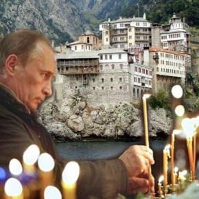 Ο Πούτιν στο Αγιον Ορος παραμονήΧριστουγέννων
