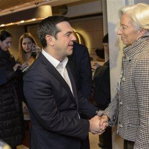 Μιάμιση ώρα κράτησε η συνάντηση Τσίπρα-Λαγκάρντ στο Νταβός – Σημαντική ελάφρυνση του χρέους ζητά τοΔΝΤ