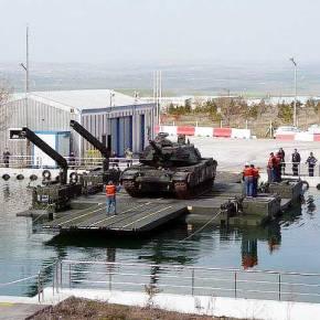 Η τουρκική αυτοκινούμενη αμφίβια γέφυρα εφόδου«νυφίτσα»