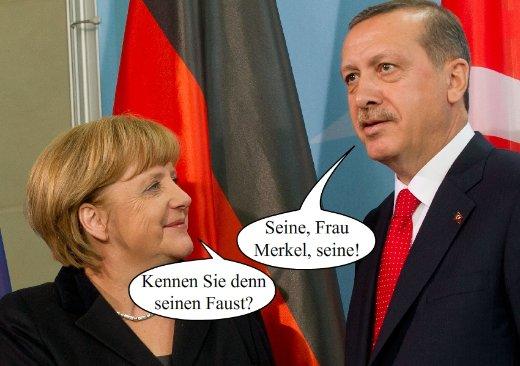 Fotowitz Merkel/ Erdogan