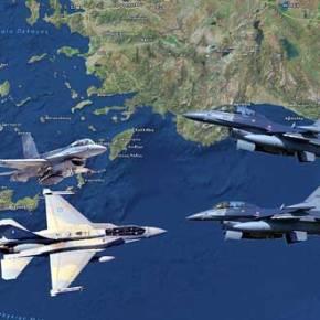Σφοδρή Αερομαχία και Εμπλοκή οπλισμένων Τούρκικων και Ελληνικών F-16 Ανατολικά τηςΡόδου