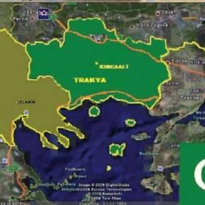 Σήκωσαν και χάρτη της Ανεξάρτητης Θράκης!!!