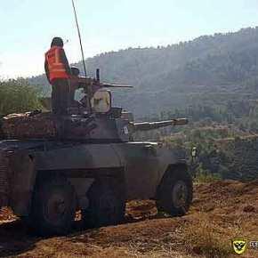 Φωτογραφίες από τις βολές του Τακτικού Συγκροτήματος Επιλαρχίας Αρμάτων της ΕθνικήςΦρουράς