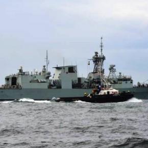 Αναχώρησε απο τον Πειραιά η ΝΑΤΟικη φρεγάτα HMCS Fredericton(VIDEO)