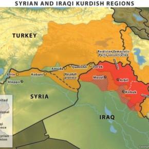 Συρία: Τα σύνορα του νέου Κουρδιστάν χαράσσουν τώρα τα αμερικανικά μαχητικά –ΧΑΡΤΗΣ
