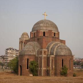 O «ISIS έρχεται» έγραψαν ακραίοι Αλβανοί στον τοίχο Σέρβικης Ορθόδοξης Εκκλησίας στηνΠρίστινα