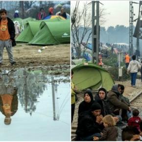 Χάος στην Ειδομένη: Χωρισμένοι σε «στρατόπεδα» οι πρόσφυγες-Διαφωνούν έντονα μεταξύ τους Έχουν χωριστεί σε δυο ομάδες μετά τις φήμες για άνοιγμα των συνόρων-Φωτο.