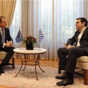 Τουσκ: Η Ελλάδα έχει αναλάβει βάρος δυσανάλογο με τις δυνάμεις της.Ολοκληρώθηκε η συνάντηση με τον πρωθυπουργό στο Μαξίμου, ενόψει της Συνόδου Κορυφής τηςΕΕ