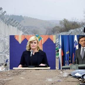 Οι Πρόεδροι Σλοβενίας και Κροατίας επισκέπτονται τον φράχτη τωνΣκοπίων