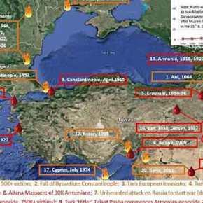 Τουρκία αυτή είναι η ιστορία σου! Ένας χάρτης αίματος βίας καιθανάτου