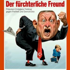 Δείτε το απίστευτο, χιουμοριστικό εξώφυλλο του γερμανικού περιοδικού Spiegel με τον τούρκο πρόεδρο Ταγίπ Ερντογάν και τη γερμανίδα καγκελάριο ΆνγκελαΜέρκελ.