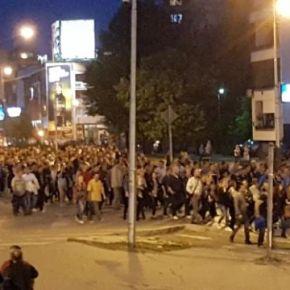 Σκόπια: Διαδηλώσεις χιλιάδων ατόμων στο κέντρο τηςπρωτεύουσας