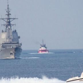 Ένταση στη Χίο με μετανάστες να διαδηλώνουν,τουρκικό πλοίο να κάνει βόλτες και την SNMG2 νακοροϊδεύει!