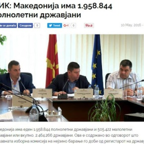 Υπουργείο Εσωτερικών Σκοπίων: Ο πληθυσμός μας είναι 2.464.266πολίτες