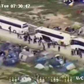 Ειδομένη: Εντυπωσιακά πλάνα της επιχείρησης εκκένωσης από το ελικόπτερο τηςΕΛ.ΑΣ.