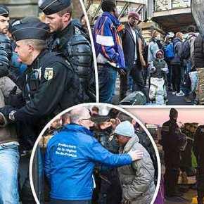 Γαλλική επιχείρηση εκκένωσης μεταναστών από τεράστιο στρατόπεδο στο σιδηροδρομικό σταθμό τουΠαρισιού