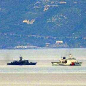 Μεγάλη συγκέντρωση Ελληνικών και Τουρκικών πλοίων στην περιοχή τωνΟινουσσών