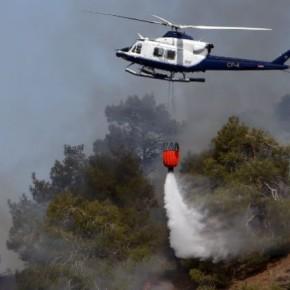Ανεξέλεγκτη η χειρότερη πυρκαγιά στα χρονικά τηςΚύπρου