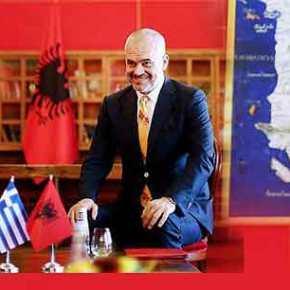 Αλβανικός χάρτης με ελληνικά εδάφη στο γραφείο του ΈντιΡάμα