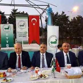 Τουρκικές σημαίες και της «Ανεξάρτητης Θράκης» σε εκδήλωση στην Προύσα παρουσία υπουργού τουΕρντογάν