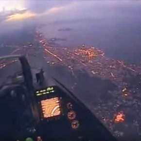 Η Κρήτη το βράδυ όπως μόνο οι πιλότοι των F-16 τηνβλέπουν-ΒΙΝΤΕΟ