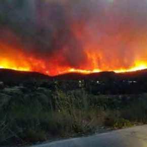 Ανεξέλεγκτη μαίνεται η πυρκαγιά στη Χίο: Εκκενώθηκαν χωριά – Κάηκαν δυο σπίτια (φωτό &βίντεο)