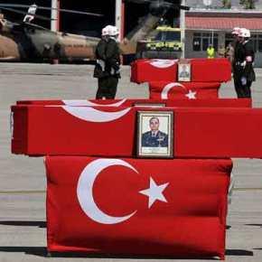Αιματοκύλισμα στην ΝΑ Τουρκία: 12 νεκροί Τούρκοι στρατιώτες και 21 τραυματίες από νέες επιθέσεις του PKK (βίντεο,εικόνες)