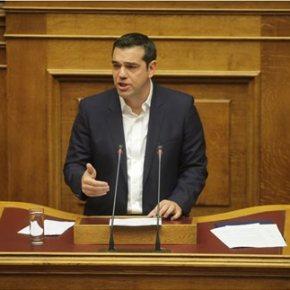 Οι προτάσεις Τσίπρα για την συνταγματική αναθεώρηση Ο Αλέξης Τσίπρας, παρουσιάζει τα βασικά σημεία της κυβερνητικής πρότασης για τη συνταγματική αναθεώρηση, σε ειδική εκδήλωση στον προαύλιο χώρο τηςΒουλής.