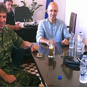 Συνάντηση του Διοικητή της 80 ΑΔΤΕ με τον ΔήμαρχοΛέρου