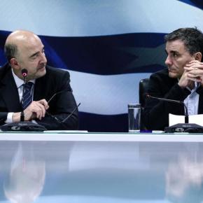 Κομισιόν: «Πολύ μικρή η πρόοδος με τα προαπαιτούμενα»Εμπλοκή στις διαπραγματεύσεις προέκυψε κατά τη συνάντηση Τσακαλώτου και Σταθάκη με τον Πιέρ Μοσκοβισί. Ερχεται »κόκκινο τηλέφωνο» Αθήνας –Βρυξελλών.