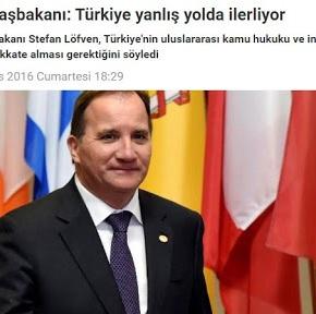 Σουηδός πρωθυπουργός: Η Τουρκία προχωρά σε λάθοςδρόμο