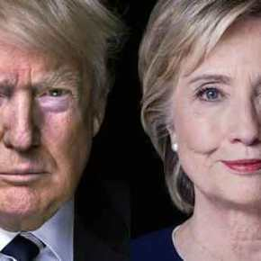 «Καθαρό» προβάδισμα του Ν.Τραμπ έναντι της Χ.Κλίντον με τρεις μονάδεςδιαφορά