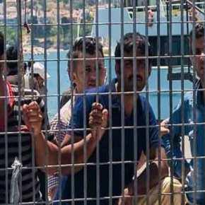 Άγριες συμπλοκές μεταξύ μεταναστών στο κέντρο φιλοξενίας της Μόριας(φωτό)