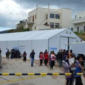 Ολοκληρώθηκε η μεταφορά του πρόχειρου προσφυγικού καταυλισμού πίσω από το Δημαρχείο τηςΧίου