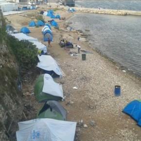 Χίος: μισάωρη βροχή «έπνιξε» δομέςφιλοξενίας
