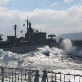 """Οι Τούρκοι αρνούνται να αποχωρήσουν:""""Ναυμαχία"""" νότια Καρπάθου μεταξύ ελληνικής και τουρκικής φρεγάτας! Τι έχεισυμβεί"""