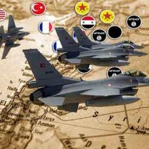 Μαζικοί αεροπορικοί βομβαρδισμοί από τουρκικά μαχητικά στη βόρεια Συρία – Χτυπούν στόχους αδιακρίτως(βίντεο)