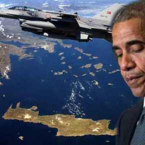 Αερομαχίες στο Αιγαίο με τον Ομπάμα στηνΑθήνα