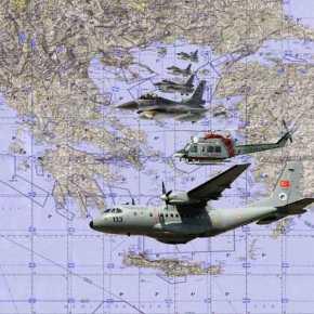 Τέσσερα Τούρκικα Μαχητικά ,1CN-235 και 1″Ε/Π SAR»…Eισέβαλαν στo FIR Αθηνών!