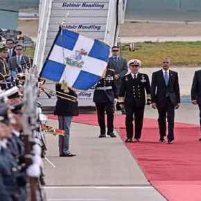 Προσγειώθηκε το Air Force One στο «Ελ.Βενιζέλος» – Ο Π.Καμμένος υποδέχθηκε τον Μ.Ομπάμα (upd, live, βίντεο,εικόνες)