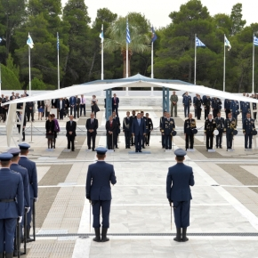 Ο ΥΕΘΑ στον επίσημο εορτασμό του Προστάτη της Πολεμικής Αεροπορίας –ΦΩΤΟ