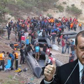 «Κήρυξε πόλεμο» ο Ερντογάν: Παρέταξε βάρκες με «καραβάνια προσφύγων» στα μικρασιατικάπαράλια