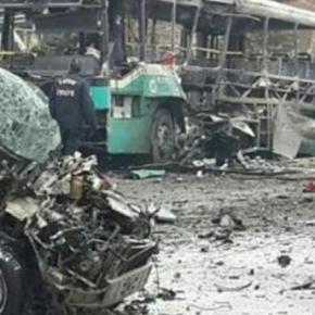 Τουρκία: Έκρηξη λεωφορείου στην Καισάρεια – Δεκάδες θύματα –  Διαμελισμένα πτώματα στο δρόμο μετά την έκρηξηλεωφορείου