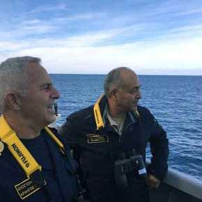 Ο Α/ΓΕΕΘΑ Ναύαρχος Ε.Αποστολάκης και ο Αιγύπτιος ομόλογός του από την φρεγάτα FREMM του Αιγυπτιακού Ναυτικού στέλνουν μήνυμα στηνΤουρκία
