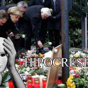 Η Μέρκελ στο σημείο της τραγωδίας στο Βερολίνο -Κατέθεσε λευκά τριαντάφυλλα(φωτό)