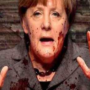 Σοκαριστική φωτό από τον Γ.Βίλντερς: «Η Ανγκελα Μέρκελ έχει στα χέρια της το αίμα τωννεκρών»…