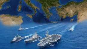 Τεράστιες δυνάμεις συγκεντρώθηκαν ξαφνικά στην Α.Μεσόγειο: Τρία «εχθρικά» αεροπλανοφόρα και τρεις αντίπαλοι Στόλοι σε απόσταση«αναπνοής»